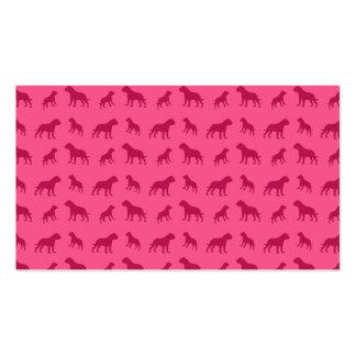 Pink bulldog pattern business card