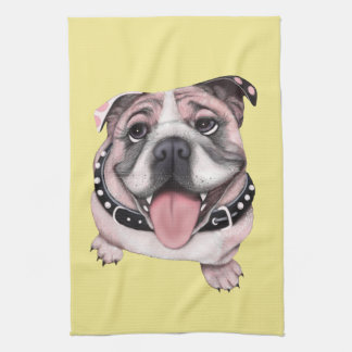 Pink Bulldog Towel