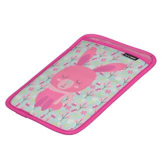 Pink Bunnies and Flowers iPad Mini Sleeves