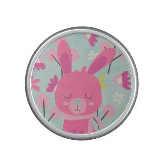 Pink Bunnies and Flowers Speaker