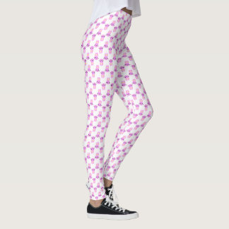 Pink Bunnies • Spring / Easter Print Leggings