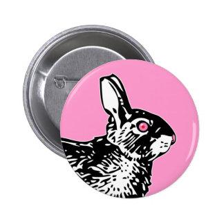 Pink Bunny 6 Cm Round Badge