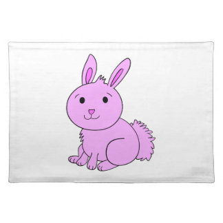 Pink Bunny American MoJo Placemats