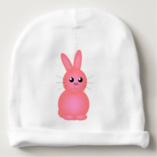 Pink Bunny Baby Beanie