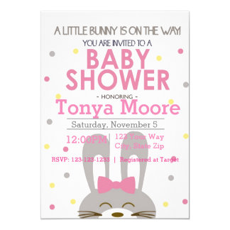 bunny baby shower invitations  announcements  zazzle.co.uk, Baby shower invitations