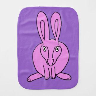 pink bunny burp cloth