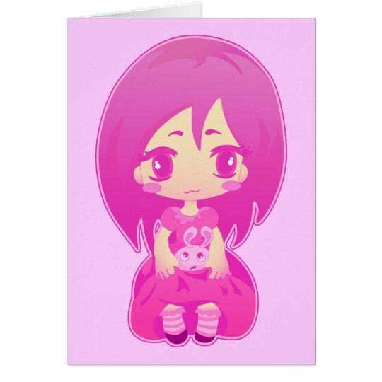Pink bunny card