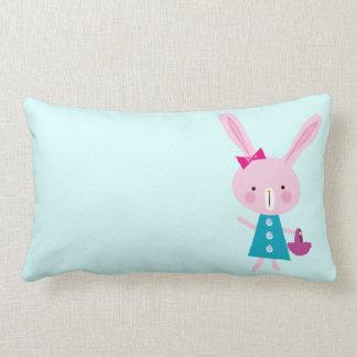 Pink Bunny Lumbar Cushion