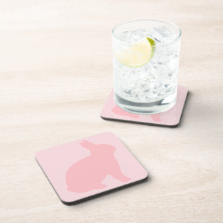 Pink Bunny on Pink Coaster