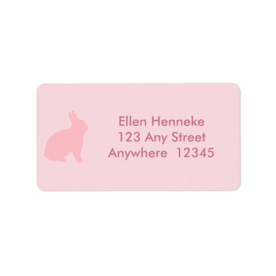 Pink Bunny on Pink Label