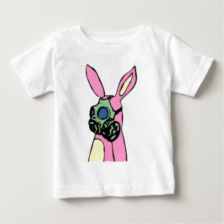 Pink Bunny Rabbit Gas Mask Baby T-Shirt