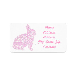 Pink Bunny Return Address Labels