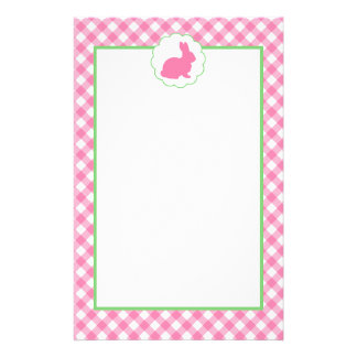 Pink Bunny Silhouette Stationery