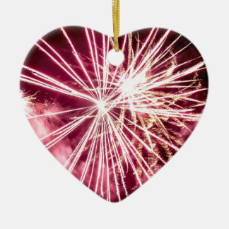 Pink Burst Ceramic Heart Decoration