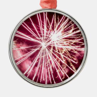 Pink Burst Christmas Ornament