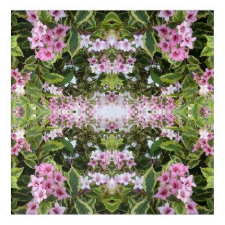 Pink Bush Flower Fractal Acrylic Print