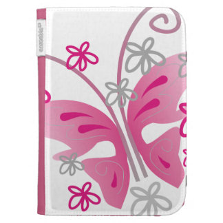 Pink Butterflies Kindle Case