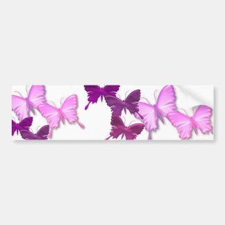 Pink Butterflies Design Bumper Sticker