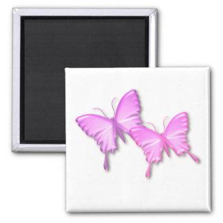 Pink Butterflies Design Magnet Magnet