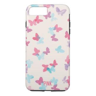 pink butterflies iPhone 7 plus case