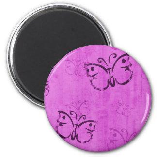 Pink Butterflies Magnet