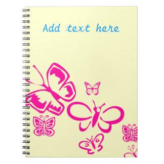 Pink Butterflies Notebook