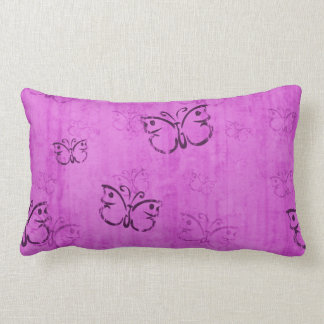 Pink Butterflies Pillow