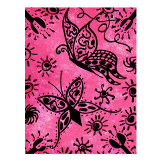 Pink Butterflies Postcard