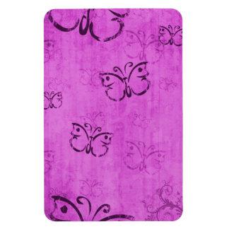 Pink Butterflies Rectangular Photo Magnet
