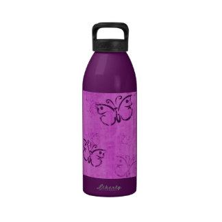 Pink Butterflies Drinking Bottle