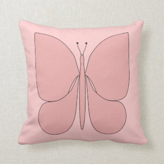 Pink Butterfly American MoJo Pillows Cushions