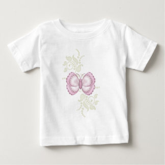 Pink Butterfly Baby T-Shirt