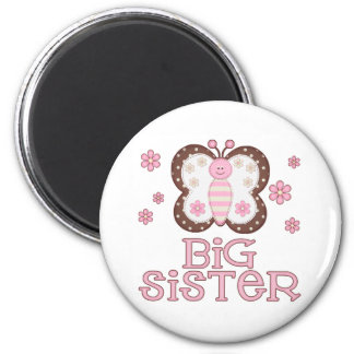 Pink Butterfly Big Sister Refrigerator Magnet