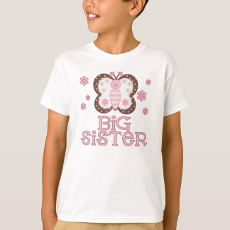 Pink Butterfly Big Sister T-Shirt