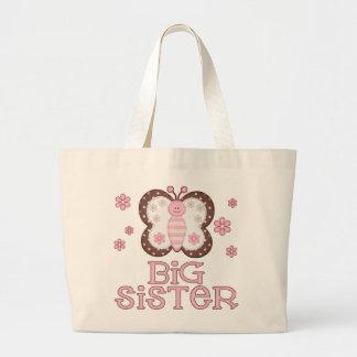 Pink Butterfly Big Sister Jumbo Tote Bag
