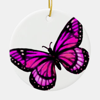 Pink Butterfly Christmas Ornament