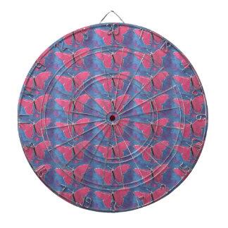 pink butterfly dartboard