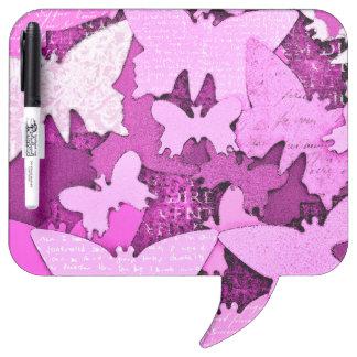 Pink Butterfly Dreams Dry-Erase Board