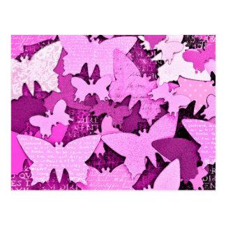 Pink Butterfly Dreams Postcard