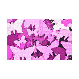 Pink Butterfly Dreams Stretched Canvas Prints