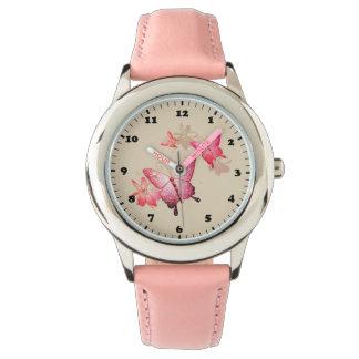 Pink Butterfly:  eWatch Watch