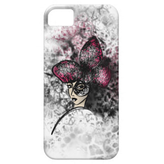 Pink Butterfly Fashionillustration Gothic Style iPhone 5 Cover