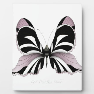 Pink Butterfly Forest Rose Orchid Plaque