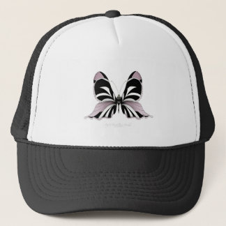Pink Butterfly Forest Rose Orchid Trucker Hat