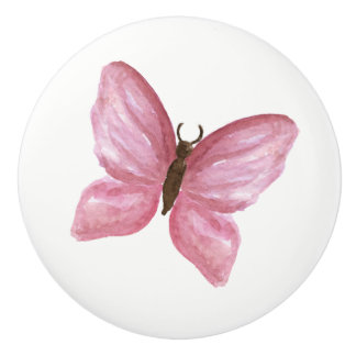 pink butterfly knob