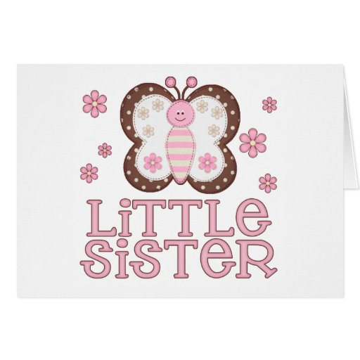 Pink Butterfly Little Sister Cards