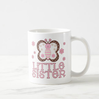 Pink Butterfly Little Sister Coffee Mug