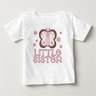 Pink Butterfly Little Sister Tshirt