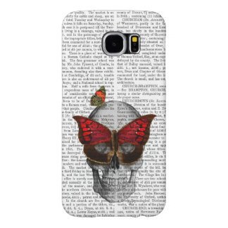 Pink Butterfly Mask Skull Samsung Galaxy S6 Cases