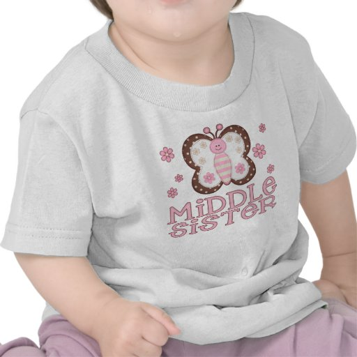 Pink Butterfly Middle Sister Tshirt